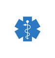 emergency star related glyph icon vector image vector image