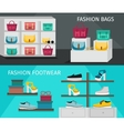 Fashion Accessories Banner Set vector image vector image