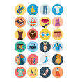 Fashion Flat Icons 3 vector image vector image