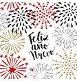 Feliz ano nuevo Spanish Happy New Year greeting vector image