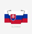 flag of slovakia flat icon waving flag with vector image vector image