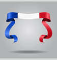 french flag wavy ribbon background vector image