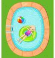Girl at the Pool vector image vector image