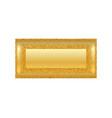 Gold frame isolated white background golden