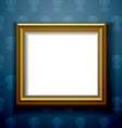 Gold frame on wall vector image