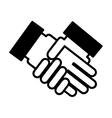 hands shake isolated icon design vector image vector image