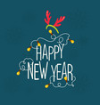 happy new year greeting card graphics vector image