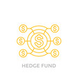 hedge fund icon on white vector image vector image