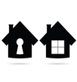 house icon in black vector image vector image