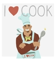 I love cook vector image