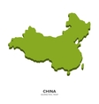Isometric map of China detailed vector image vector image