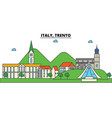 italy trento city skyline architecture vector image vector image