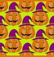 jack-o-lantern pumpkin background halloween vector image vector image