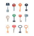 keys set collection safety locks steel keys vector image