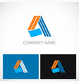letter a shape abstract colored company logo vector image vector image