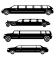 Limousines silhouettes collection vector image vector image