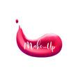 lipstick smudge smear make up design element for vector image vector image