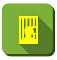Locked Prisoner Longshadow Icon vector image