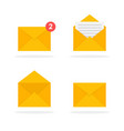 mail envelope icons set new messages email send vector image vector image