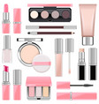 makeup icons set 4 vector image vector image