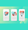 medical cardiology health care mobile app page vector image