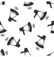 megaphone icon seamless pattern vector image vector image