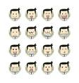 Men faces emotions vector image vector image