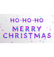 merry christmas card with fluid paper cut letters vector image