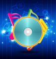 Music disk with festival background vector image vector image