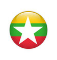 myanmar flag on button vector image