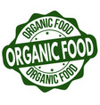 organic food label or sticker vector image