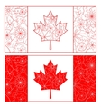 Outline of Canada flag vector image vector image