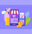 pos-terminal and payment systems payment concept vector image