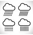 raincloud symbols vector image