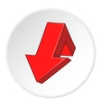 Red broken arrow icon cartoon style vector image vector image