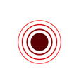 red concentric rings epicenter theme simple flat vector image vector image