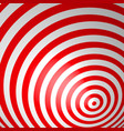 red volumetric striped background concentric vector image vector image