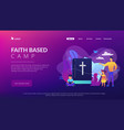 religious summer camp concept landing page vector image vector image