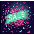 sale banner with paint splach and particle vector image vector image