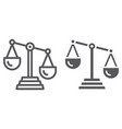 scale justice line and glyph icon law and vector image