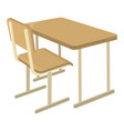 school desk school supplies icon and logo vector image vector image