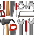 seamless background with handtools vector image
