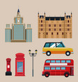 set of travel elements vector image