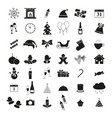 set of winter icons holiday christmas and new year vector image vector image