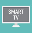 smart tv flat icon household and appliance vector image vector image