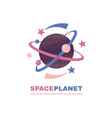 Space planet logo vector image