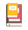 stack books information and knowledge symbol vector image vector image