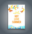 summer blank with butterflies vector image vector image