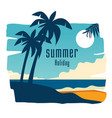 summer holiday coconut tree blue sky background ve vector image vector image