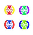 the emblem of the volume triangles vector image vector image